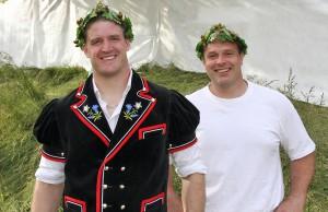 Die Flawiler Kranzschwinger Michael Rhyner und Martin Knechtle Foto: Pascal Schönenberger