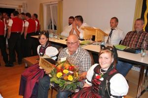 Das neue Ehrenmitglied Peter Hartmann Foto: Pascal Schönenberger