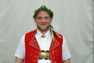 Manuel Truniger sicherte sich seinen ersten Kranz am St. Galler Kantonalschwingfest in Uzwil SG Foto: Pascal Schönenberger